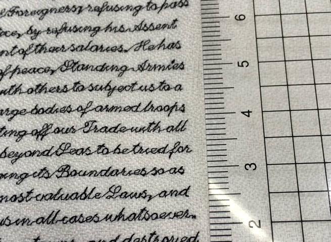 Výšivka s textem 2 mm