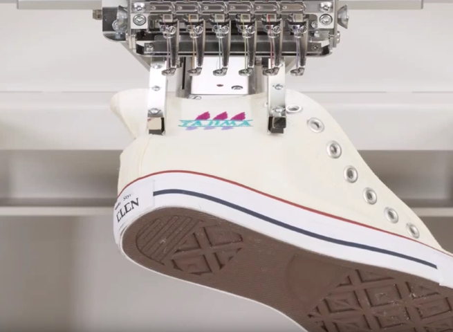 Pneumatický kapsový rám & vyšívání obuvy